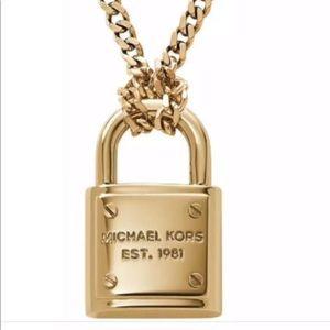Michael Kors Women's Brilliance Padlock necklace